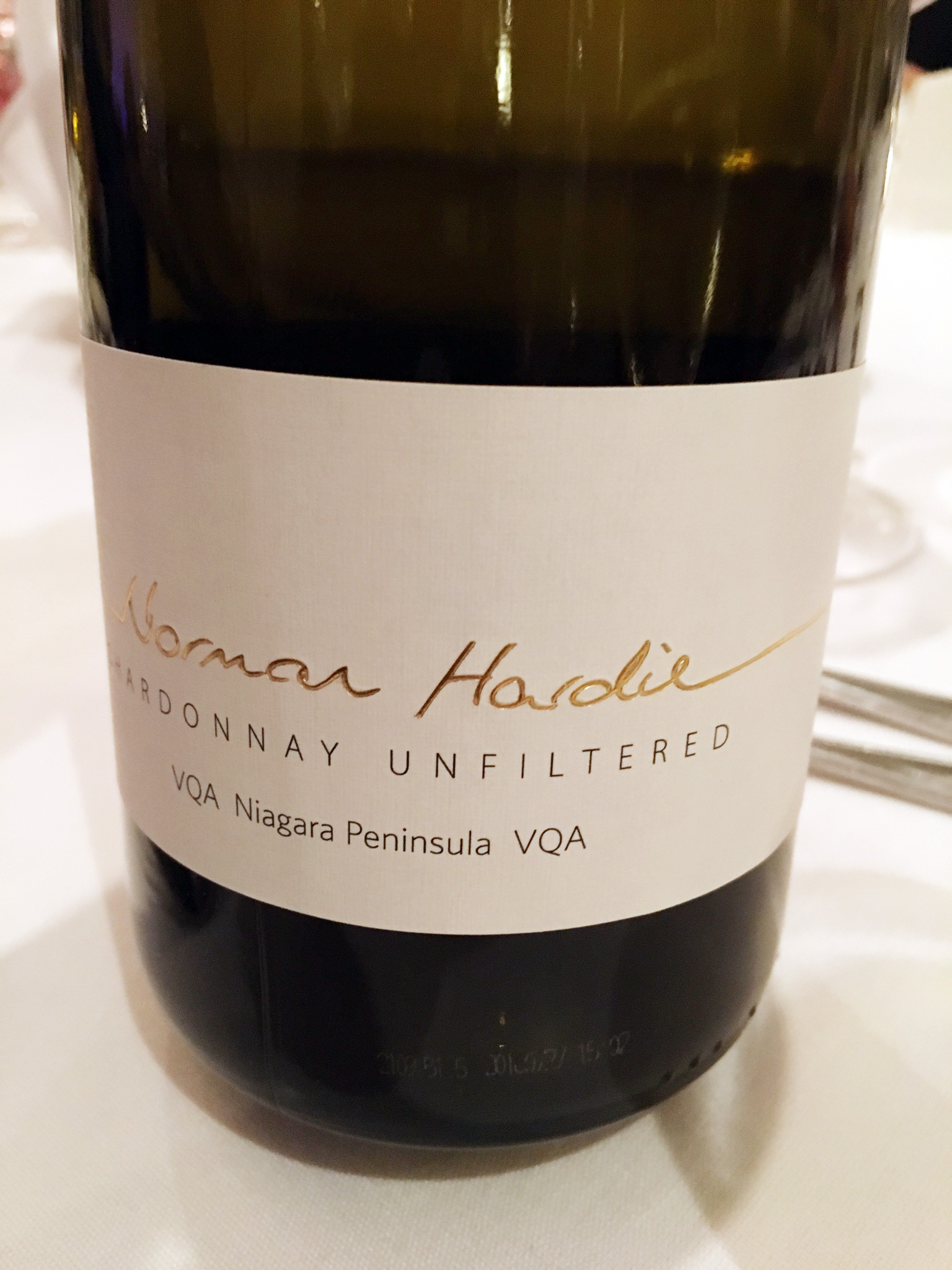 Norman Hardie Chardonnay Unfiltered