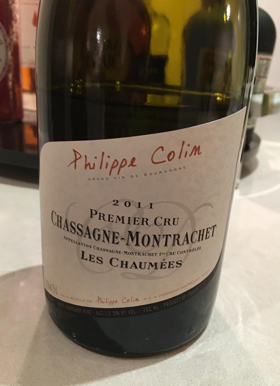 Philippe Colin Chassagne-Montrachet Les Chaumées 2011