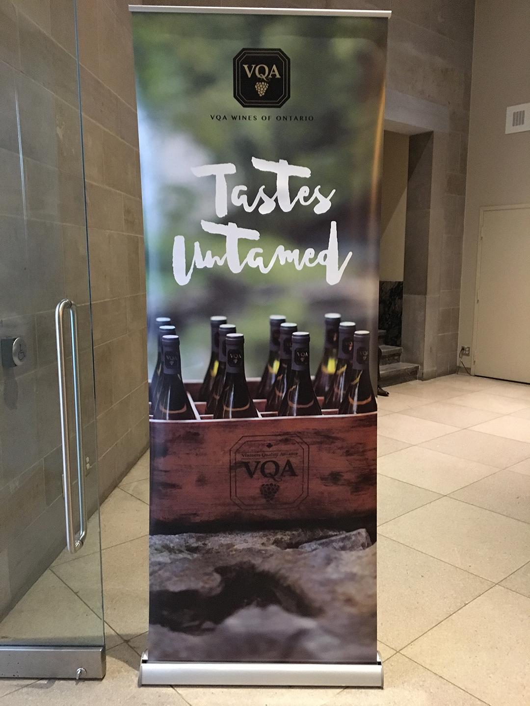 VQA Tastes Untamed banner