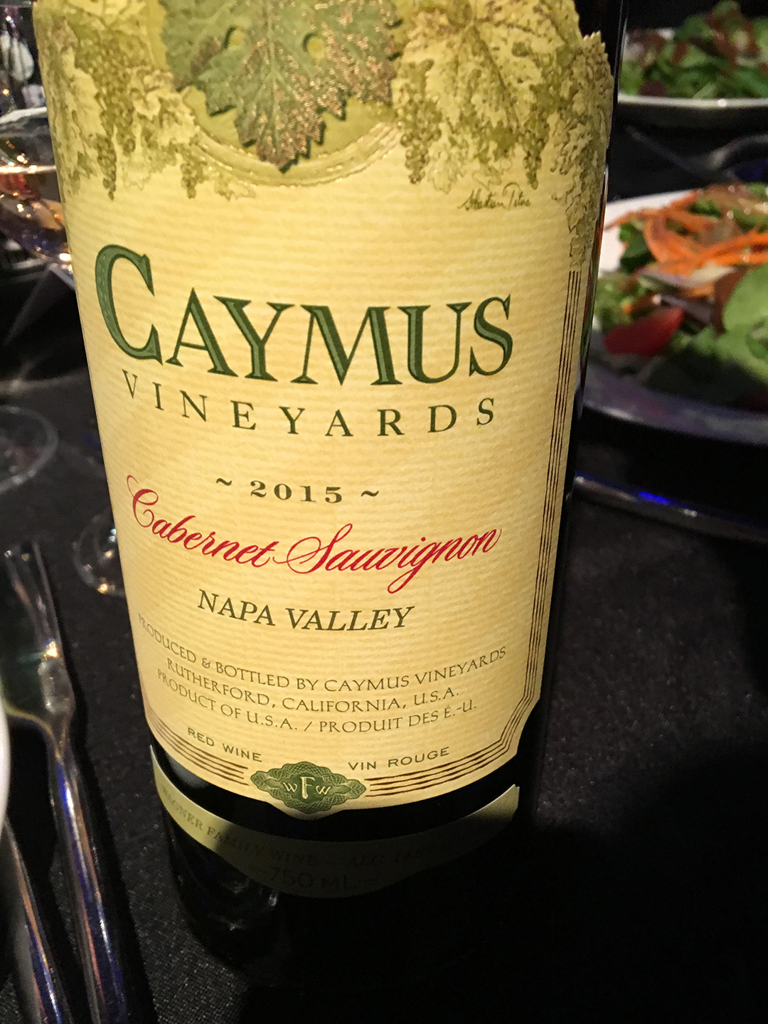 Caymus Vineyards Cabernet Sauvignon 2015, Napa Valley