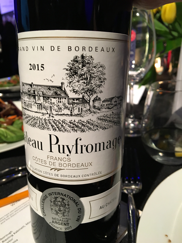Château Puyfromage 2015, Francs Côtes de Bordeaux