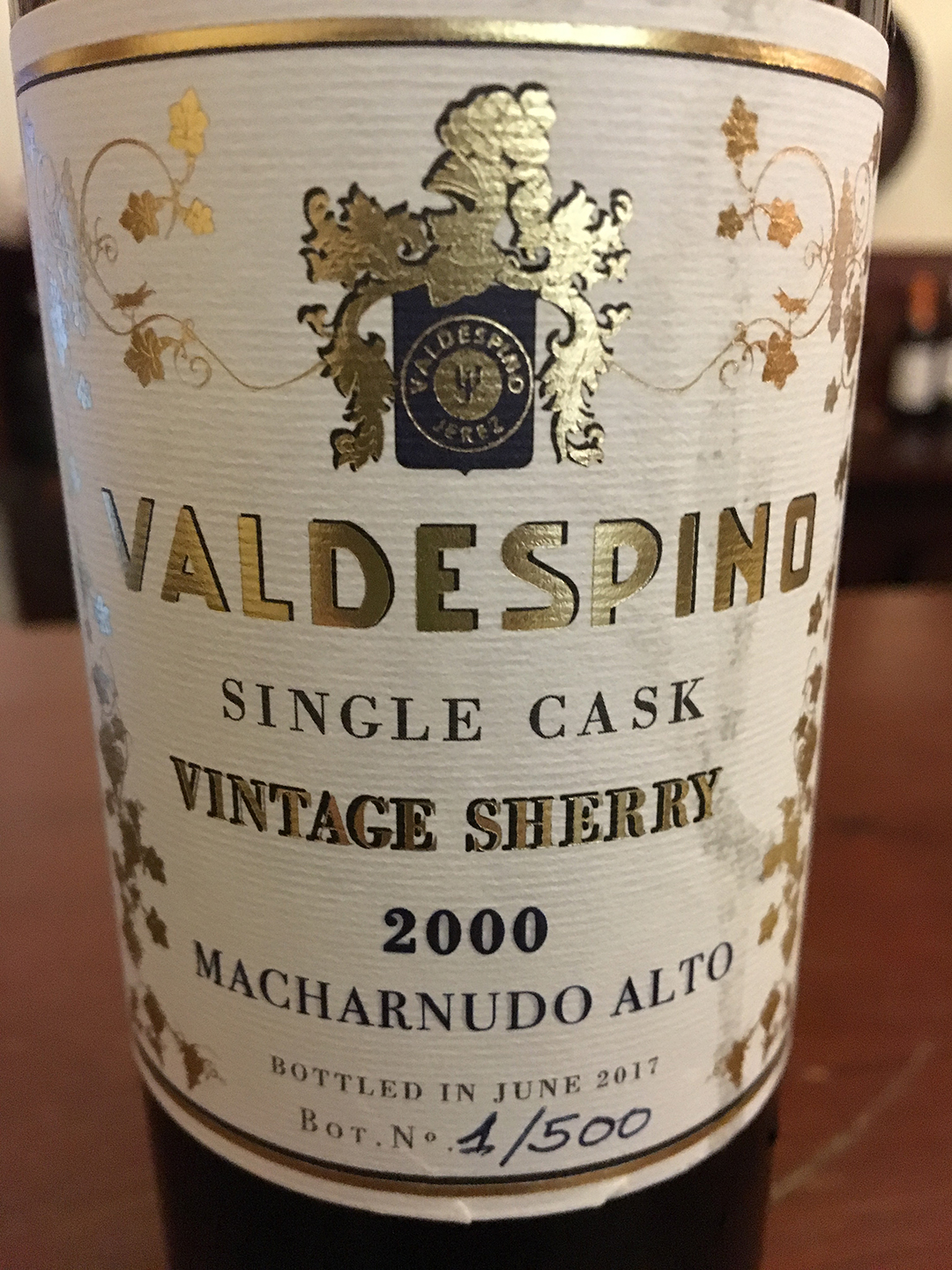 Valdespino Single Cask Vintage Sherry 2000