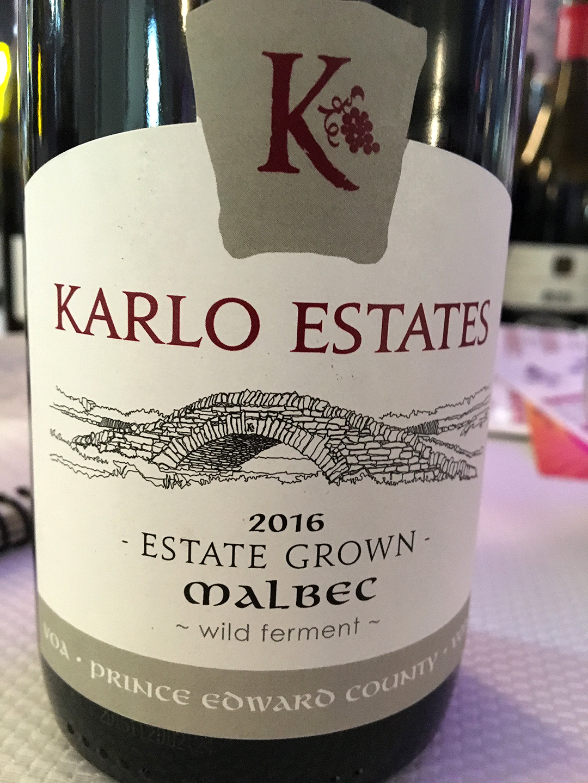Karlo Estates Malbec 2016
