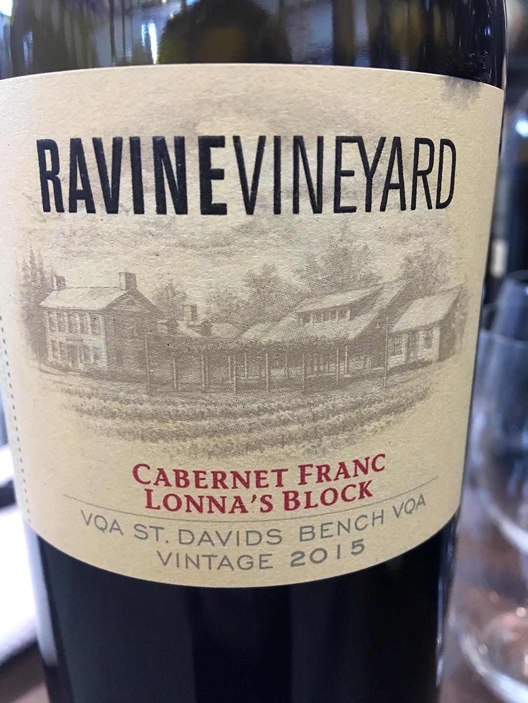 Ravine Vineyard Lonna's Block Cabernet Franc 2015