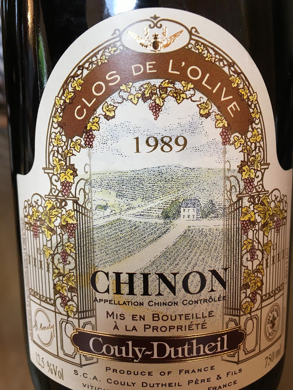 Couly-Dutheil Clos de l'Olive Chinon 1989