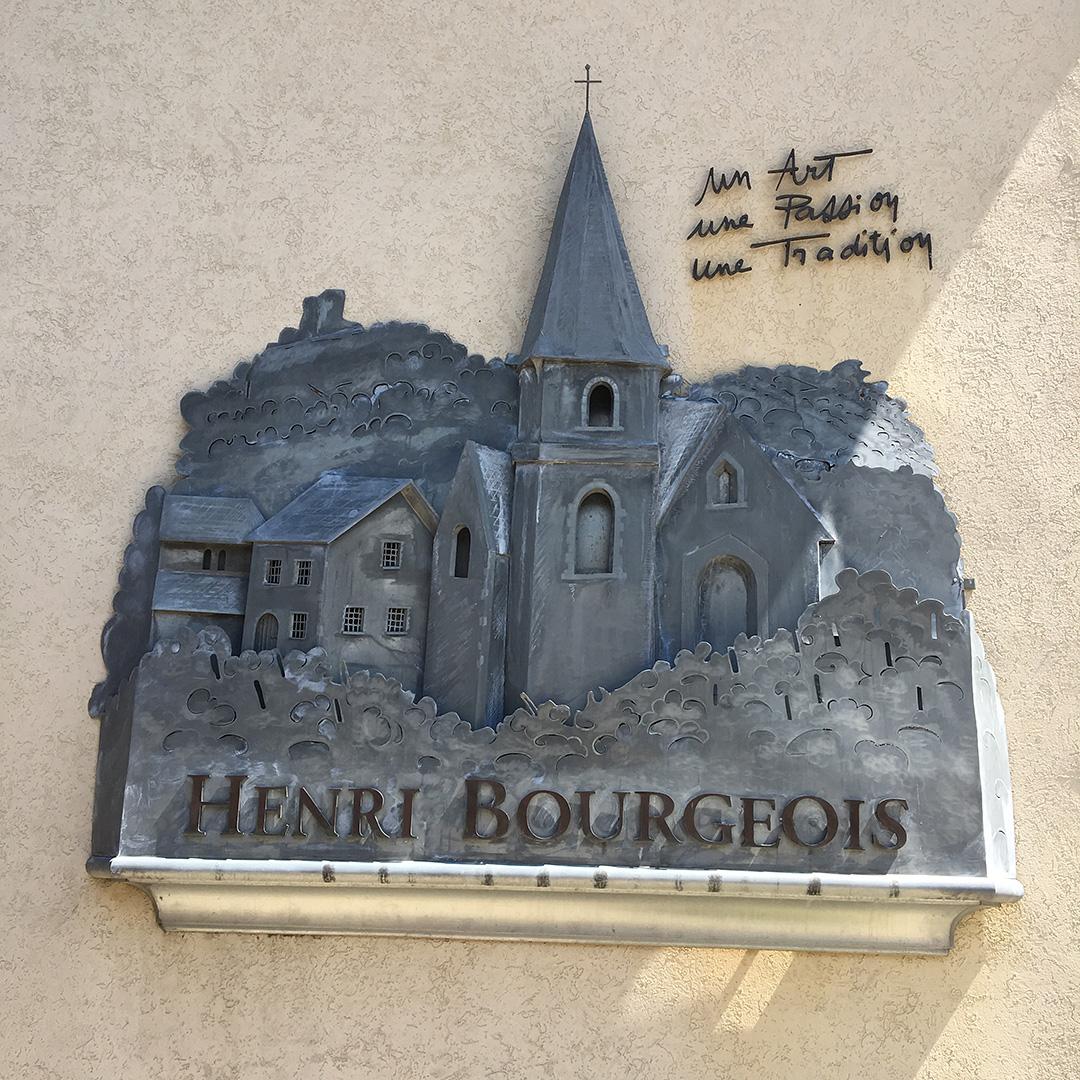 Henri Bourgeois metal nameplate