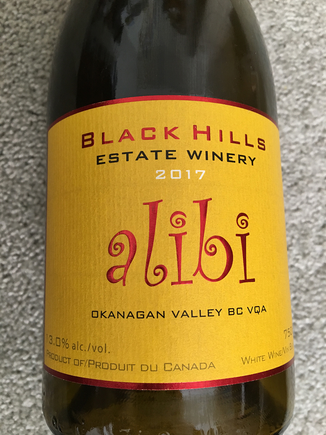 Black Hills Estate Winery Alibi 2017