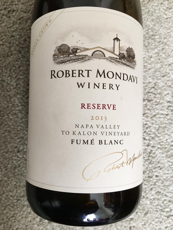 Robert Mondavi Winery Reserve Fumé Blanc 2013