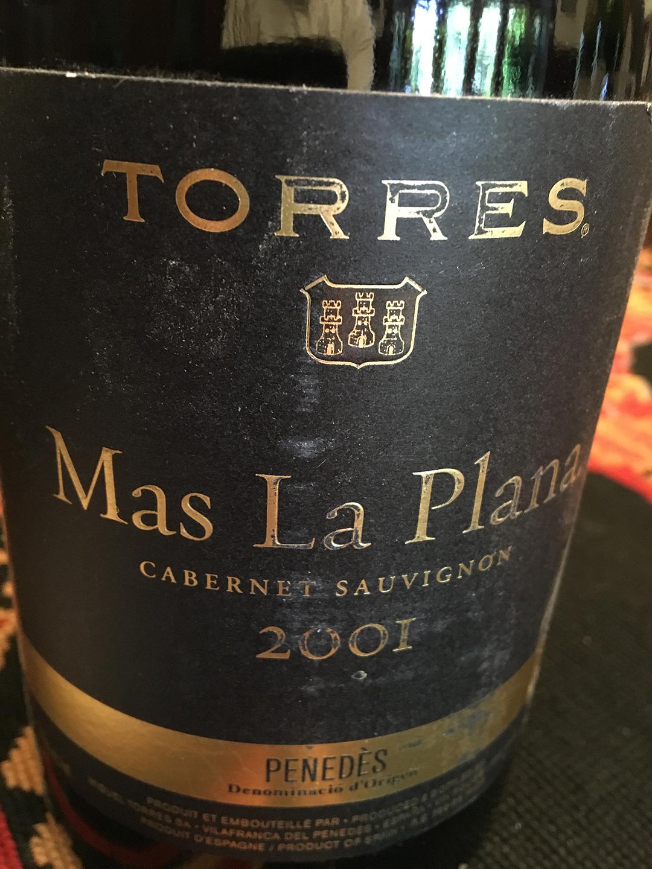 Torres Mas La Plana Cabernet Sauvignon 2001