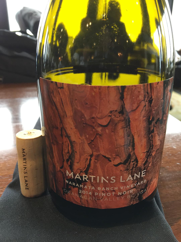 Martin's Lane Pinot Noir 2014