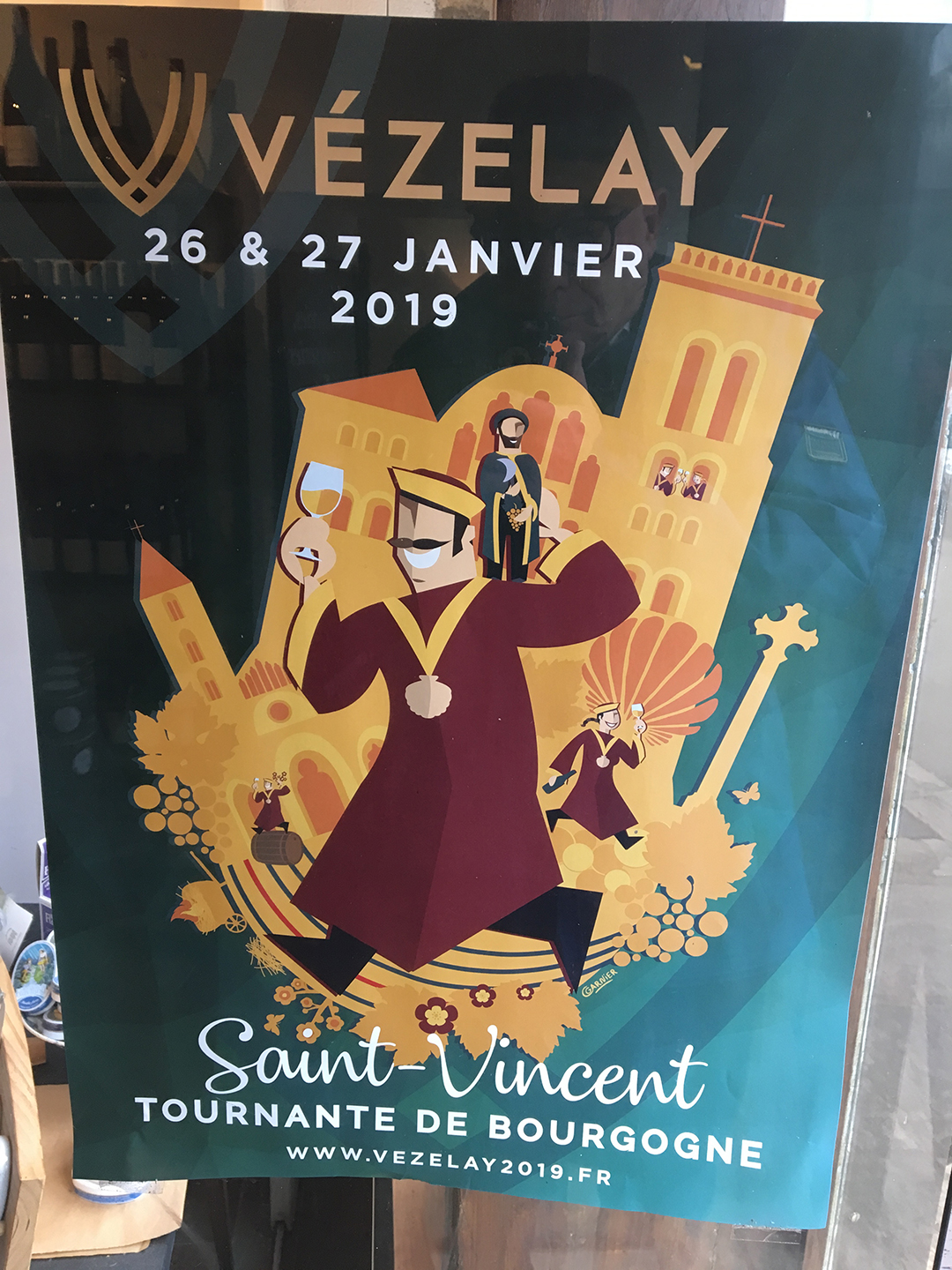 Poster for Saint-Vencent Tournante de Bourgogne, Vézelay, 26 & 27 janvier 2019
