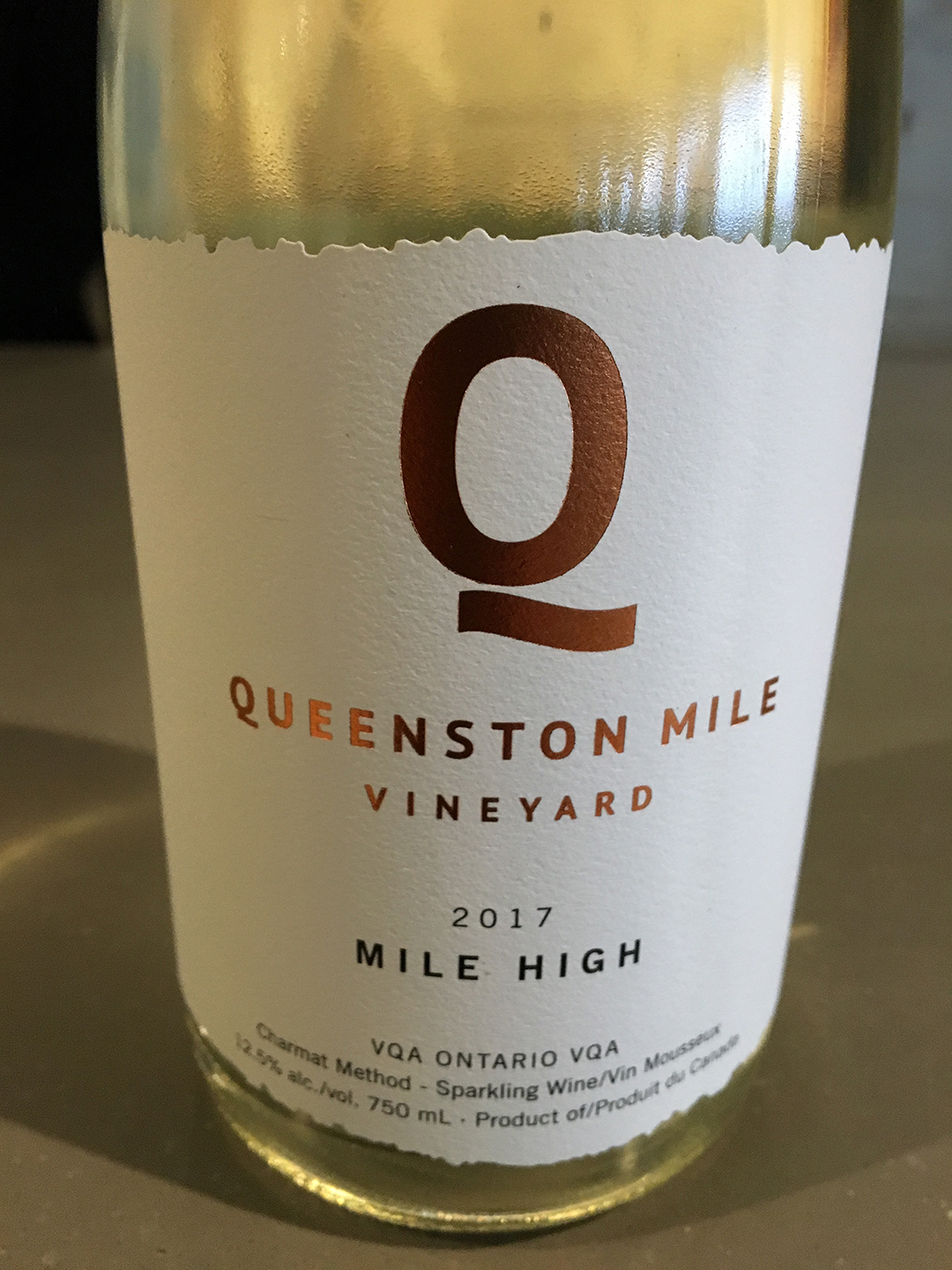 Queenston Mile Vineyard Mile High 2017