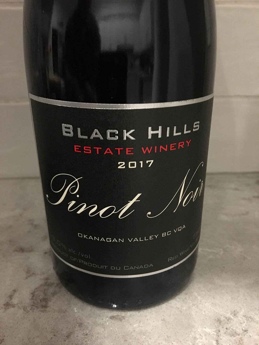 Black Hills Estate Winery Pinot Noir 2017