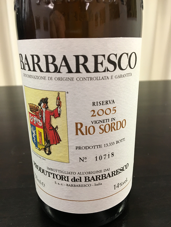Rio Sordo Barbaresco 2005