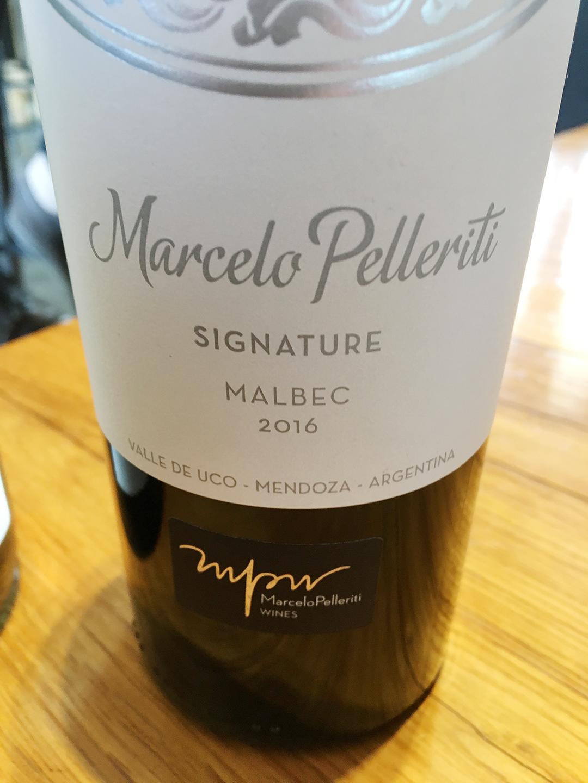 Marcelo Pelleriti Signature Malbec 2016