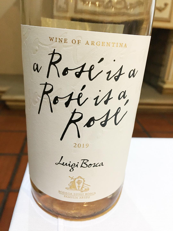 Luigi Bosca bottle: a Rosé is a Rosé is a Rosé