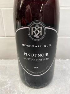 Rosehall Run Small Lots Pinot Noir Mottiar Vineyard 2019