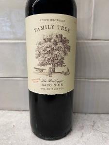 "Speck Brothers Family Tree ""The Bootlegger"" Baco Noir 2020"