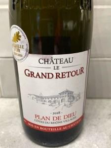 Château Grand Retour Plan de Dieu 2018