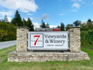Sign for Township 7 Vineyards & Winery