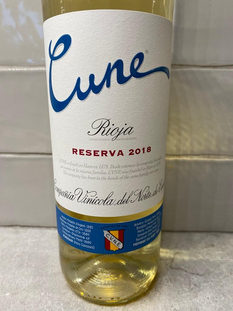 Cune Blanco Reserva 2018